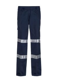 Ladies Mid Weight Cargo Cotton Drill Trouser With Csr Reflective Tape