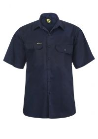 Lightweight Short Sleeve Vented Cotton Drill Shirt