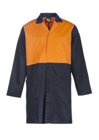 Hi Vis Two Tone Dustcoat With Patch Pockets - Long Sleeve-WJ047