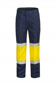 Modern Fit Cotton Drill Cargo Trouser With Contrast Knee and Csr Reflective Tape-WP3066