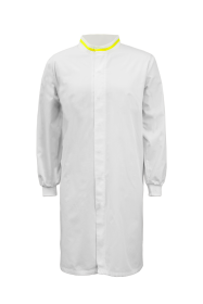 Food Industry Long Length Dustcoat With Mandarin Collar,