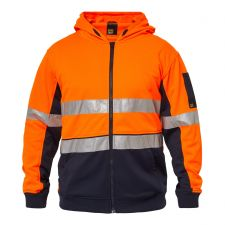 """PEAK"" Hi Vis Two Tone Hoodie with tape"