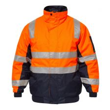 Typhoon Hi Vis Modern Bomber Jacket  With Tape