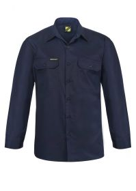 Lightweight Long Sleeve Vented Cotton Drill Shirt