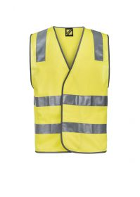 Unisex Hi Vis Safety Vest With Shoulder Pattern And