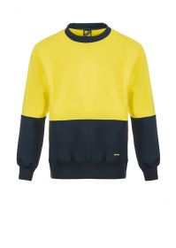 Hi Vis Two Tone Crew Neck Pullover - Brushed Back Fleece-WT8000