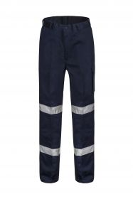 Modern Fit Mid-weight Cargo Cotton Drill Trouser with Csr Reflective Tape-WP3065