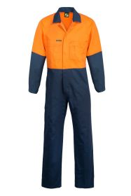 Hi Vis Two Tone Cotton Drill Coveralls-WC3051