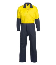 Hi Vis Two Tone Poly/cotton Coveralls-WC3059